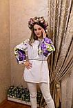 Вишиванка пишна фіолетова роза- масивна гладь🌸, фото 9