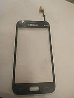 Оригинальный б.у. сенсор с рамкой для Samsung Galaxy J1 SM-J100H синий и белый