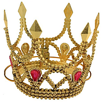 Пластиковая корона золото 16360