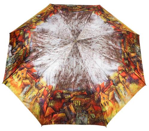 Удобный автоматический женский зонт  ZEST (ЗЕСТ) Z53964-5 Антиветер!