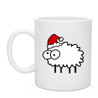 Прикольная Чашка с рисунком Новогодний бараш, купить подарки недорого