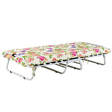 Ліжко на ламелях d 25 мм (Бязь Квіти)