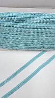 """Декоративна тасьма """"шанель блакитна блакитна"""" ширина 1см,на розріз, фото 1"""