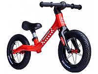Беговел (Велобег) детский Maraton Royal Red с надувными колесами и ручным тормозом, Красный