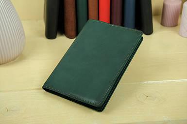 """Обложка для блокнота А5, """"Модель № 14"""", Кожа Итальянский краст, цвет Зеленый"""