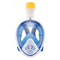 Полнолицевая панорамная маска для снорклинга FreeBreath M2068G (S/M) Blue