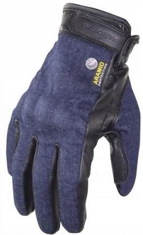 Мотоперчатки Trilobite 1841 Rally джинс - кожа женские синие, XS