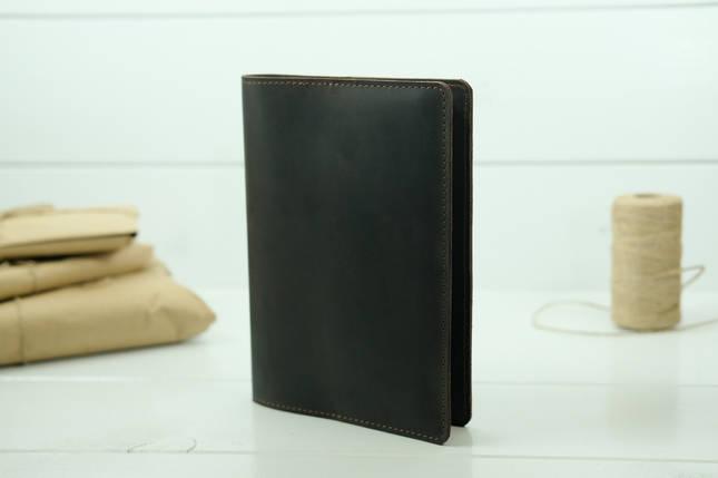 """Обкладинка для блокнот А5, """"Модель № 14"""", Вінтажна шкіра, колір Шоколад, фото 2"""