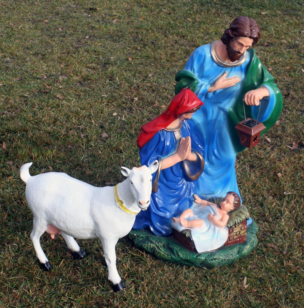 Рождественский вертеп (83см) и козочка. Цена за комплект