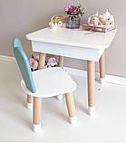"""Дитячий квадратний стіл з пеналом і 1 стільчик """"зайчик"""", фото 2"""