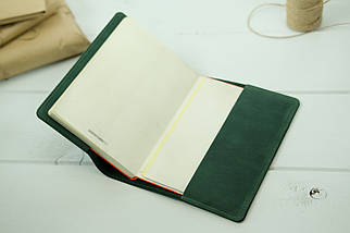 """Обложка для блокнота А5, """"Модель № 14"""", Винтажная кожа, цвет Зеленый, фото 3"""