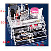 Акриловый органайзер для косметики и украшений с тремя ящичками Cosmetic organizer, фото 4
