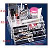 Акриловый органайзер для косметики и украшений с тремя ящичками Cosmetic organizer РАСПРОДАЖА, фото 4