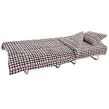 Ліжко на ламелях з постіллю d 25 мм бязь (Кольорова дрібна клітка)