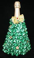 Украшение на Новогоднее праздничное шампанское Елочка