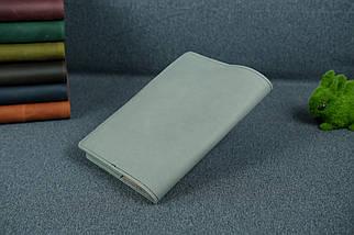 """Обкладинка для блокнот А5, """"Модель № 14"""", Вінтажна шкіра, колір Сірий, фото 2"""
