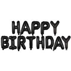 Гирлянда КИТАЙ-КТ Happy Birthday черные буквы (УП)