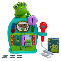 """Музыкальная игрушка """"Караоке Машина - Зеленая Лягушка"""", микрофон детский, караоке для детей (GK)"""