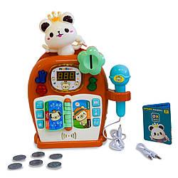 """Детское караоке """"Караоке Машина - медвежонок оrangе"""" музыкальная игрушка и детский микрофон (GK)"""