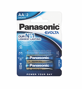 Батарейка Panasonic Evolta AA 1*2 ШТ.