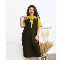 Женское платье большого размера, Яркое летнее платье из очень лёгкой ткани отличный выбор для жарких дней.