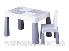 Набор мебели Tega Baby Multifun стол и стул серый (MF-001-106)