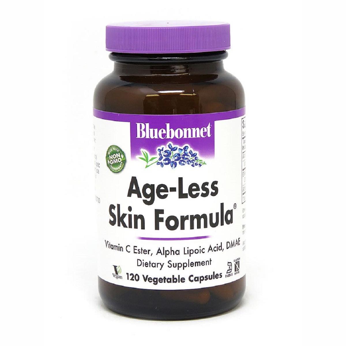 Омолаживающая формула для Кожи, AGE-LESS SKIN FORMULA, Bluebonnet Nutrition, 120 вегетарианских капсул