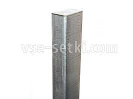 Оцинкованный столбик 60х40х1,5 мм, высота 2 м.