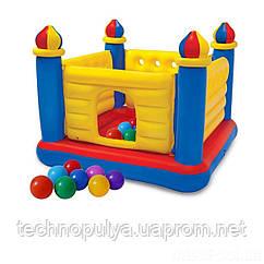 Надувной батут Intex 48259-1 Замок 175 х 175 х 135 см с шариками 10 шт (hub_vilt1z)