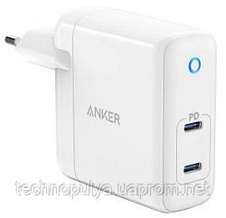 Мережевий зарядний пристрій Anker PowerPort Atom PD 2 - 60W Ultra Compact White (6543041)