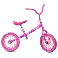 Детский беговел Profi Kids 12 дюймов M 3255-1 розовый