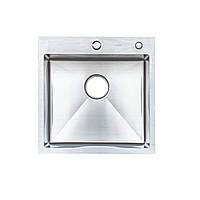 Кухонні мийкиТМ Platinum Мійка Germece Handmade 50*50/220 (товщина 3,0/1,5+кошик та дозатор в комплекті)