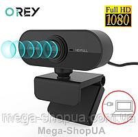 Веб камера FullHD 1080p USB с микрофоном для компьютера ПК ноутбука скайпа. Web camera юсб usb вебка вебкамера