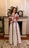 Вишукана вишита сукня зі зйомним шлейфом, фото 7