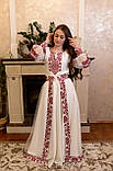 Вишукана вишита сукня зі зйомним шлейфом, фото 3