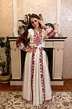 Вишукана вишита сукня зі зйомним шлейфом, фото 8
