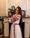 Вишукана вишита сукня зі зйомним шлейфом, фото 6