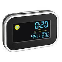 Термометр-гигрометр цифровой с часами TFA Black 120*35*78мм (602015)