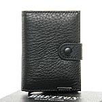 Кошелек визитница-картхолдер мужской кожаный BRETTON черный (05-120), фото 4