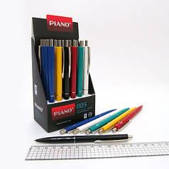 """005 Ручка масляная автомат """"Piano"""" синяя, mix, 24шт/этик."""