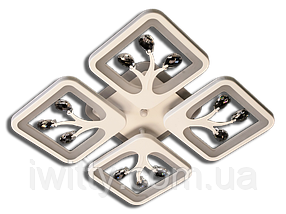 Люстра S8157/4WH LED 3color dimme (Белый) 85W, фото 3