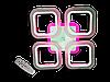 Люстра S8060/4CF LED 3color dimmer (Коричневый) 55W, фото 5