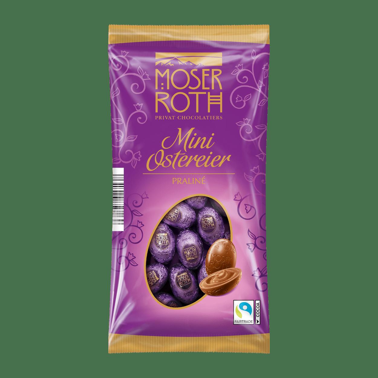 Шоколадные яйца Moser Roth Mini Ostereier Praline 150 g
