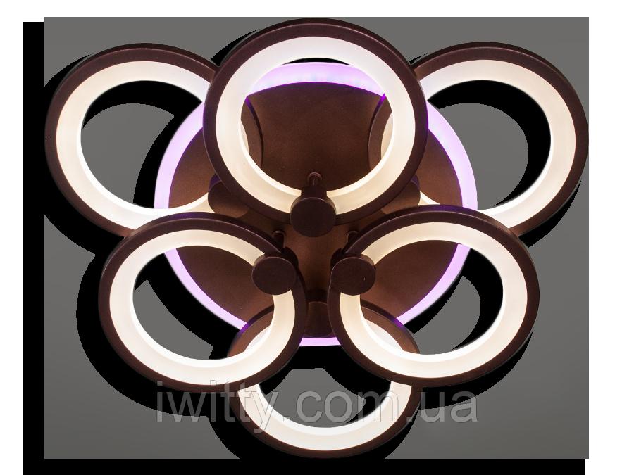 Люстра  8022/3+3CF LED 3color dimmer (Коричневый) 115W