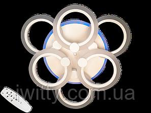 Світлодіодна люстра A8022/3+3CF LED 3color dimmer (Коричневий) 85W, фото 2