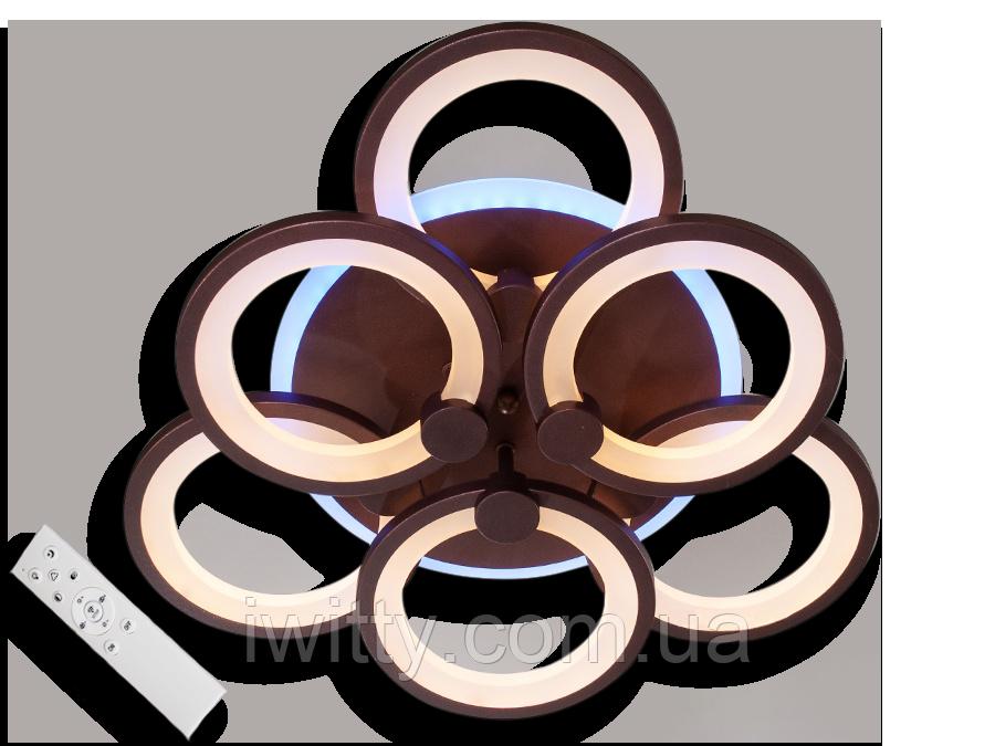 Люстра  MX2280/3+3S WH LED 3color dimmer (Белый) 105W