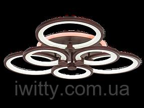 Світлодіодна люстра MX2280/3+3GR LED 3color dimmer (Сірий) 125W, фото 2