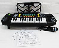 Дитяче піаніно-синтезатор 8814А з мікрофоном і нотами, фото 1
