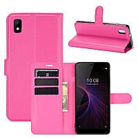 Чехол Fiji Luxury для ZTE Blade L210 книжка розовый
