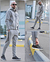 Костюм чоловічий 3XL(р) сірий 008-2020 Nike Туреччина Зима-C